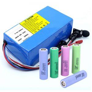 Литиевая батарея 18650 48V 12AH 48V 500W Аккумулятор для электрического велосипеда с BMS