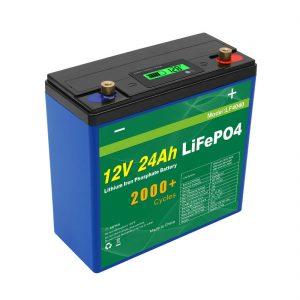 Солнечная батарея глубокого цикла 24v 48v 24ah Lifepo4 UPS 12v 24ah аккумулятор