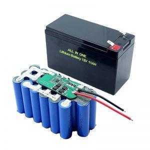 ALL IN ONE 18650 3S5P 12Volt Lithium Battery 11Ah Перезаряжаемый литиевый аккумулятор